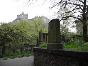 Edinburgh Castle taken from St Cuthberts