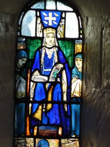 Queen Margaret in her own chapel at the castle